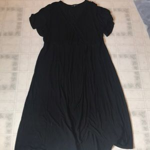 Suzanne Betro 3x Black Wrap Maxi Dress